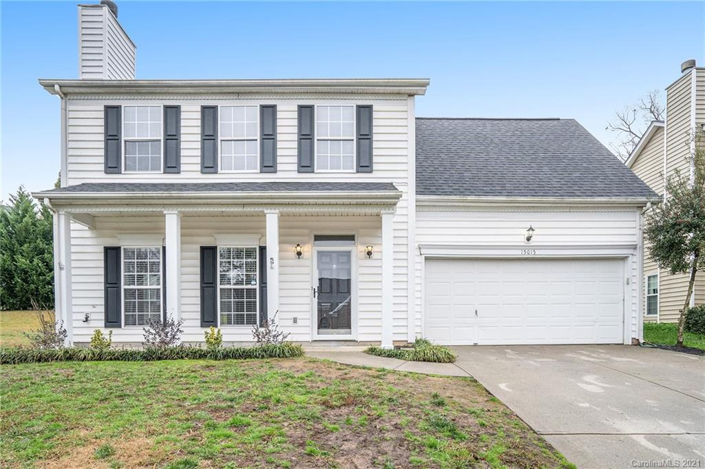 This Charlotte two-story cul-de-sac home offers a patio, granite countertops, and a two-car garage.