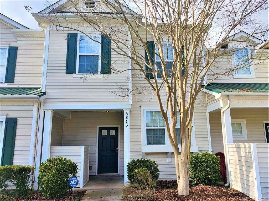 Great cozy 3 bedrooms 2.5 baths. place, 2 parking spaces, Private fenced patio, exterior storage attached unit, great community with a mixture of single family residences and townhomes, Community club house and pool, close to shopping, easy access to I-485. Albemarle Rd.
