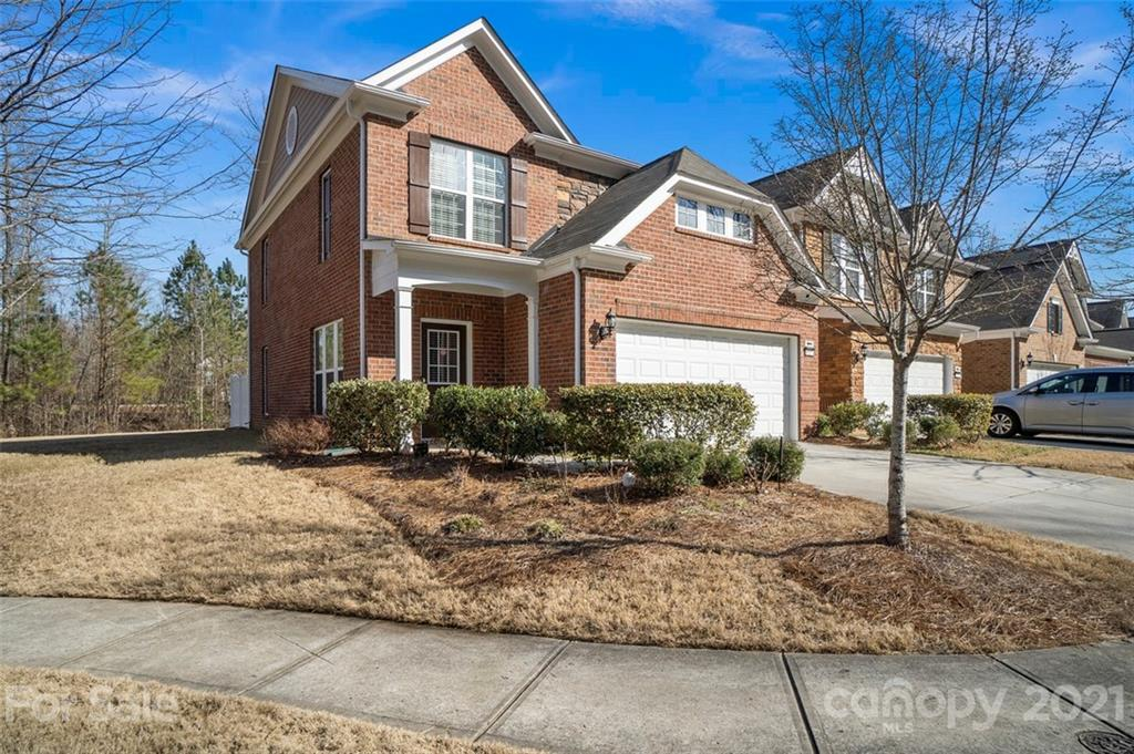 RARE & MOST POPULAR End Unit in cul-de-sac in Ballantyne with 2 car garage! Backs to pond area! one