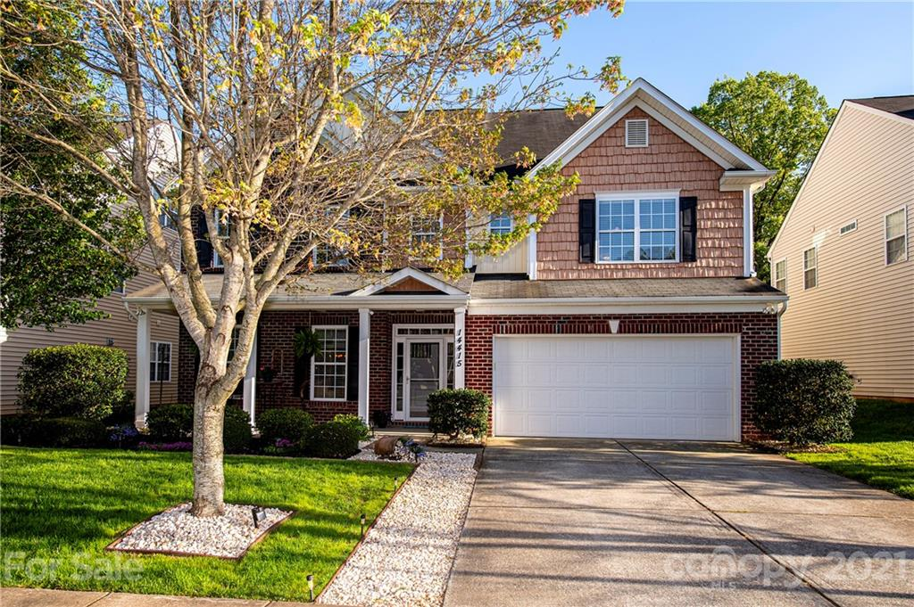 MULTIPLE OFFERS! Showings until lunch Sunday & H&B 4/18 by 3pm.  Upon entering you will be impressed with a 2-story foyer & great room! Inside you will find space aplenty including a large kitchen with stainless appliances & a double wall ovens. Family room features a gas fireplace & built ins. No need to travel when you have this gorgeous outdoor entertaining area right outside your back door. This fully fenced back yard is perfect for relaxing with an in-ground pool backing up to woods for privacy! Primary suite is located on the 2nd floor with a double door entry & dual closets (no need to share). Included in the en suite is a jetted tub, stand up shower, water closet & dual sinks. Also on the 2nd floor you will find 3 other spacious bed