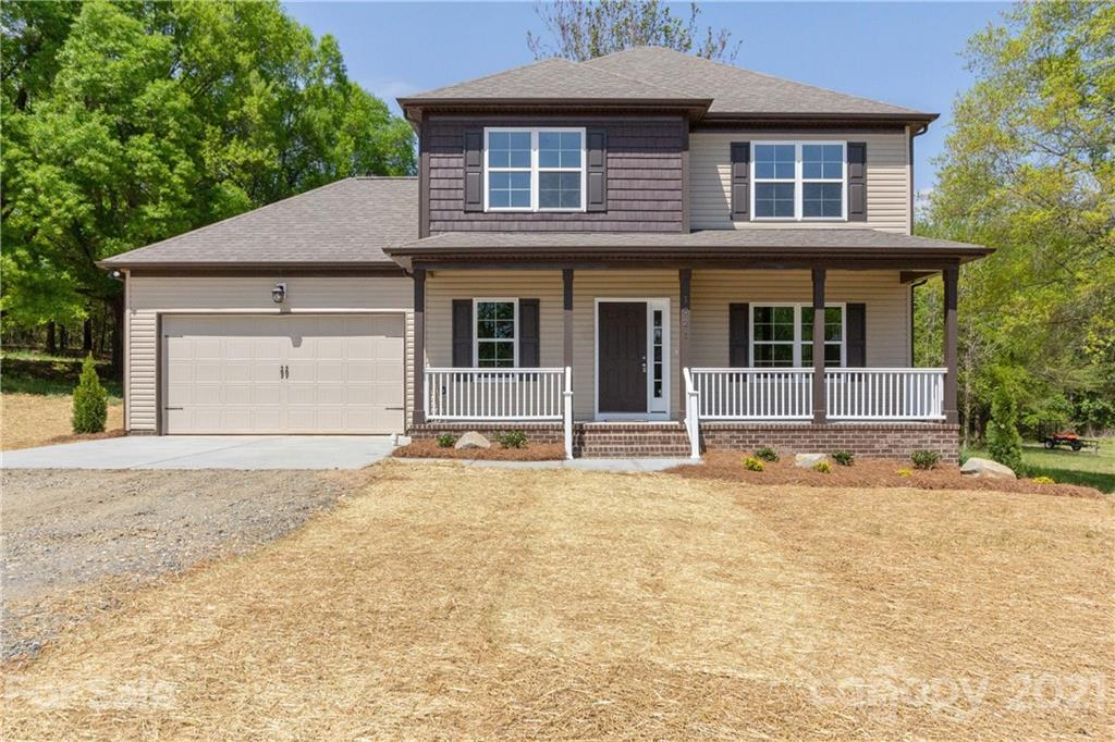 ***Highest and Best Deadline 3:00pm Friday 4/16***Gorgeous new construction in BOOMING Stallings area! Within 1 mile of new Atrium Medical Center. Close to Matthews downtown and all its amenities. Strategically situated to take advantage of the rare far-sight views that this lot offers. Cute covered front porch adorns the exterior. Convenient entryway leads to a bright and airy great room. 9' ceilings and huge windows allow the light to pour in and soak the interior with natural daylight. Beautiful kitchen with plenteous countertop and cabinet space. Luxury finishes throughout. Master bathroom appointed with exquisite selections. Room on main floor can be office/flex space. Large deck for outdoor relaxation. No pesky HOA, live and breath fr