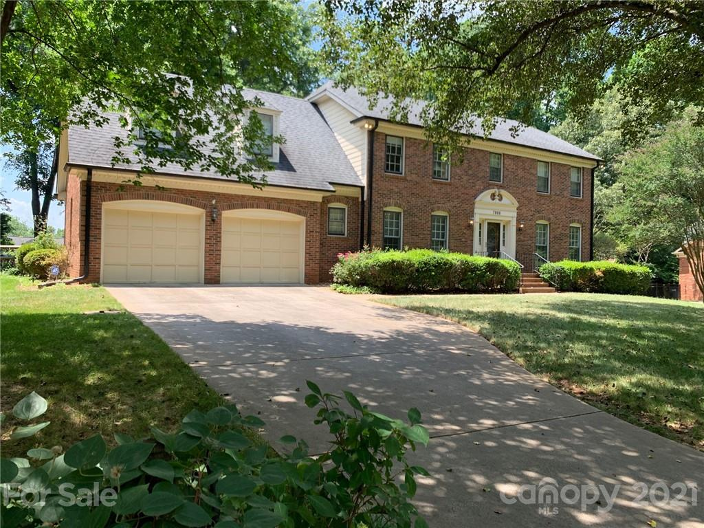 Beautiful and well maintained all brick home in Quail Hollow Estates. Enjoy cozying up in your family room near the wood burning fireplace, or relaxing on the large back porch with seasonal patio window system that makes it a perfect place to relax and unwind in any season.  Upstairs you will find the master bedroom suite, plus 3 additional bedrooms and large bonus room. The bonus room can easily be accessed by the rear stairs off the kitchen wing of the main level. Newer AC units, hot water heater, refrigerator and dishwasher between 2019 and 2020. Close to South Park, Ballantyne, Quail Hollow County Club and Golf Course, shopping and dining. Fire place sold as-is, no known issues.