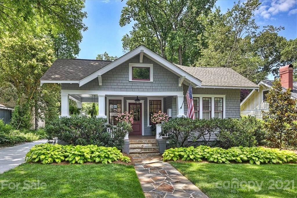 *Multiple offers received; Highest & Best due by 9:00 am 6/21*      Wonderful shingled 1924 Dilworth bungalow....Renovated!  Quaint front porch, large formal areas, a cook's dream kitchen opening into breakfast room, den and sunroom. Spacious den has fireplace with glass doors leading to a fabulous screen porch featuring a stone fireplace and overlooking the beautiful backyard.  Master bedroom suite downstairs, 3 additional bedrooms up with 2 full baths,  9' and 10' ceiling heights, hardwood floors, tile baths, large .29 Acre level lot , mature landscaping...the perfect yard to add a pool...you already have the carriage house with a bath!  The carriage house ,678 s/f has a full bath and large entertaining space ...fantastic space that could