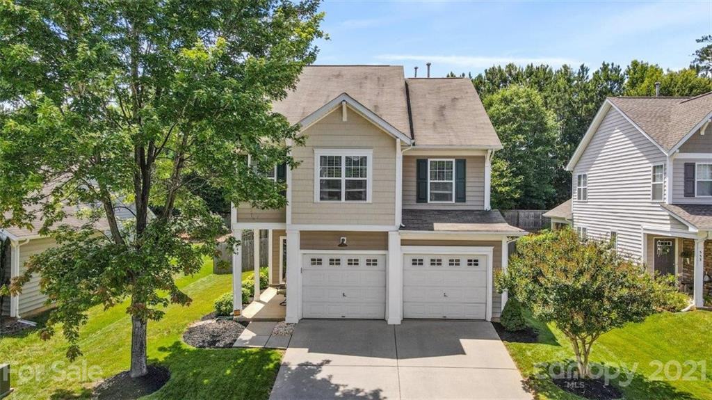 This is the one you are going to want to call HOME!!  Bright, sunny open floorplan w/pre-finished hardwood on the main.  Kitchen has a work island, breakfast bar, oversized pantry, and refrigerator included. (Stove 2017 - Microwave 2016 - Refrigerator/Dishwasher 2014 - Upstairs carpet & stairs 2020 - Screened Porch 2020).  Spacious Master BR w/private luxury bath and walk in closet.  Loft is perfect for a home office or kids play area.  Enjoy your evenings on your screened porch or in your fenced yard w/extended patio and fire pit.  Neighborhood has a pool, playground, walking trails, and a pond.  Just minutes from schools, shopping, and dining.