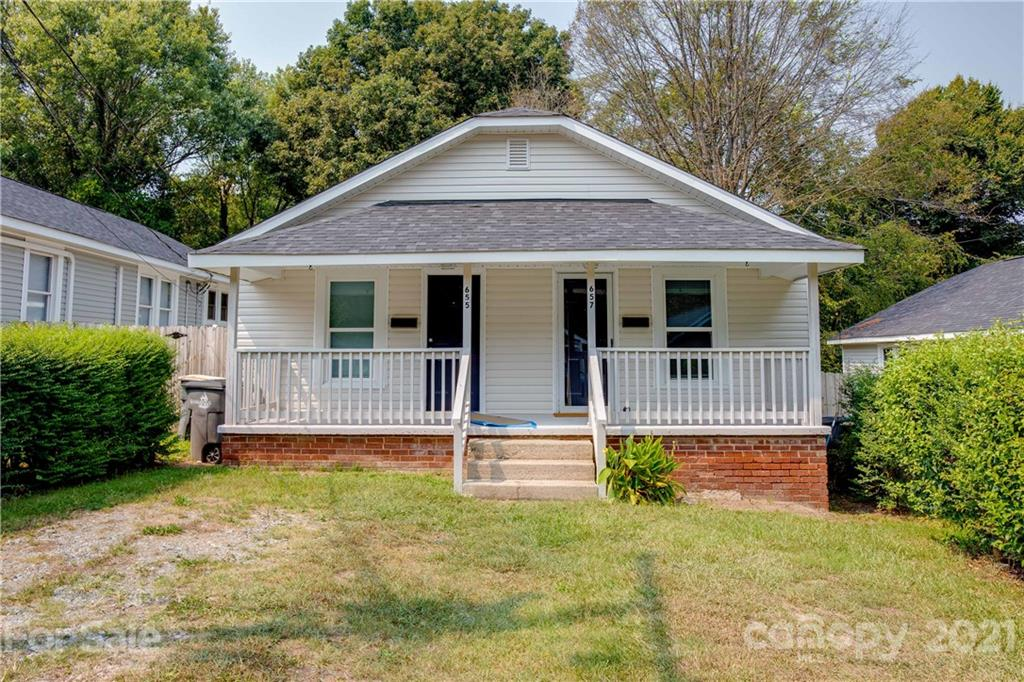 Amazing investment opportunity! Thoroughly updated duplex with one side rented out to an excellent tenant ($720/month until August 2022). Great opportunity to house-hack, live on one side and rent out the other side, in the BOOMING Kannapolis area! Situated in very close proximity to downtown and the revitalization project area, New roof, new HVAC (mini-split system), new windows and new water heater in late 2019. Kitchen and bathroom fully renovated. Entire interior freshly painted. Beautiful luxury vinyl plank flooring throughout. New vinyl siding. Cute covered front porches in front and rear are both spacious . Large yard. Conveniently located close to schools, shopping and amenities. Fair market value rent on this street is $750. So the