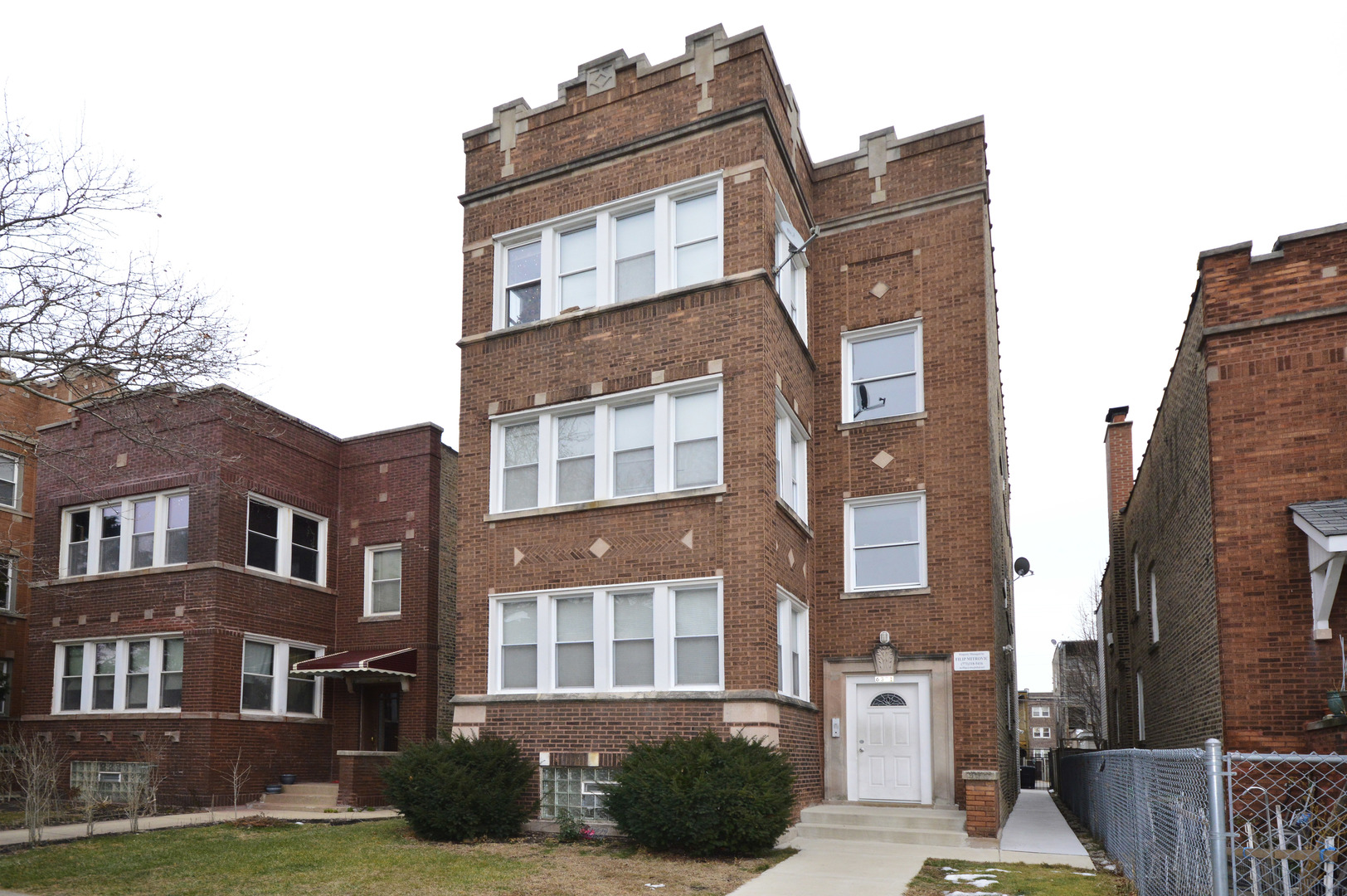 Beautiful vintage legal 4 flat in hot West Ridge.  Building features three spacious 3BR apartments w