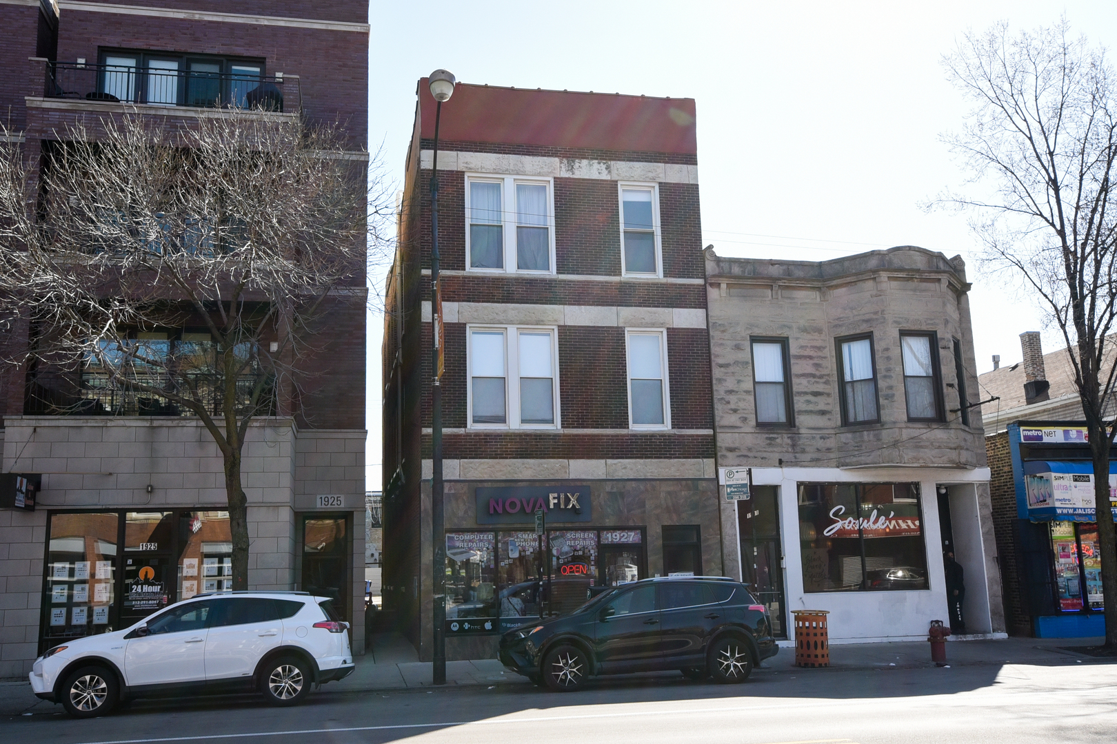 Great Chicago Ave. location!! 5 residential units and small commercial space plus basement! Great in