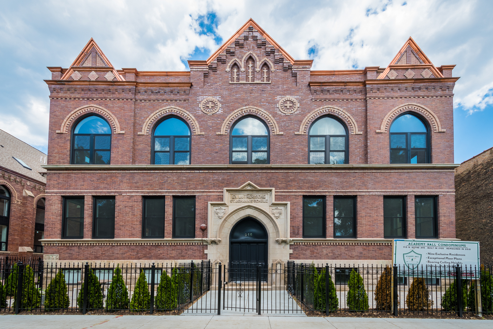 Academy Hall - a Chicago landmark building reimagined into nine unique condos from the original Luth