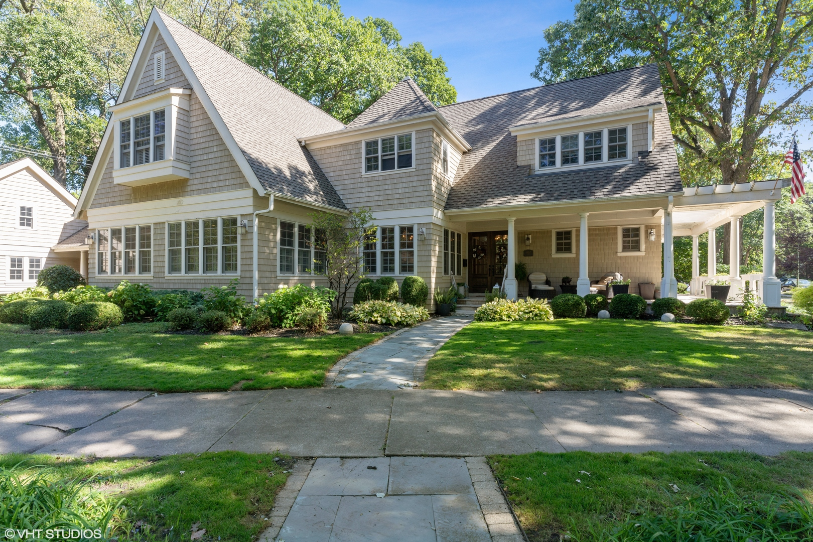 Cottage-style Manor on private, wooded lot in Wildwood, Edgebrook's premier community, Thoughtfully-