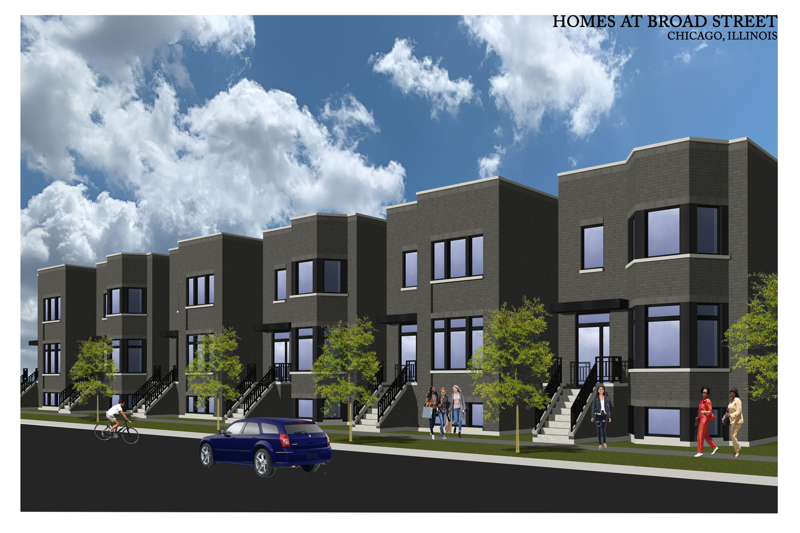 SOLD BEFORE PROCESSING! 6 new construction single family homes with huge roof decks! Brick homes wit