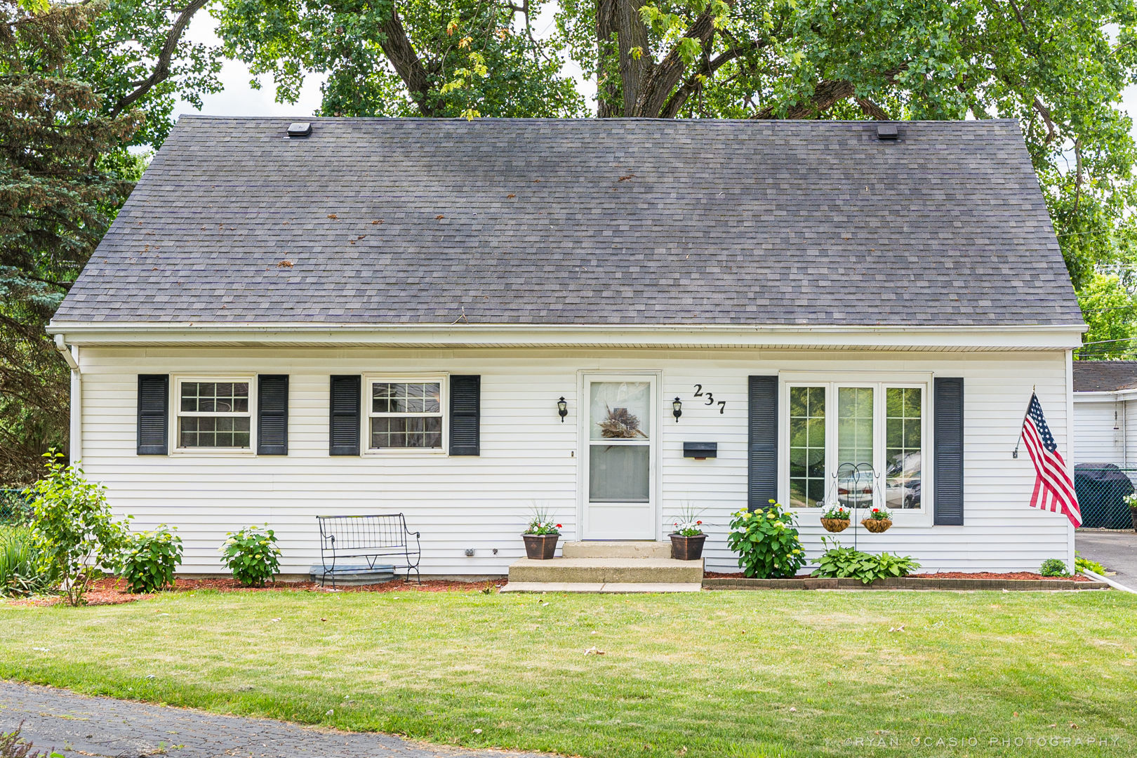 Adorable Cape Cod on a private Cul-de-Sac. Bright, sunny eat-in kitchen. Large living room with built-in book case. Four large bedrooms with hardwood floors (some are carpeted with HW underneath). Two full baths. Two car garage with additional workshop attached. Tons of additional parking. Large, partially finished basement is a great rec room and a cement crawl adds plenty of storage. New HVAC-2014, Roof-2012, Driveway-2019, Front and back doors-2019. Desirable school districts. Walking distance to park and playground. There is so much to love about this charming home.
